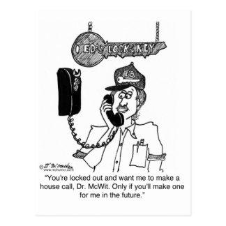 Locksmith Won't Make a House Call Postcard
