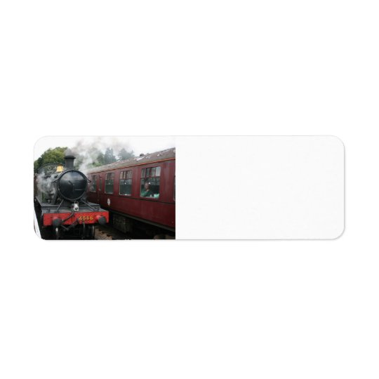 Loco 4160 at Bishops Lydeard station, Somerset Return Address Label