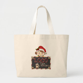 Loco for Cocoa Large Tote Bag