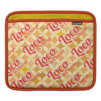 Loco in Chargo Bold Pattern Background iPad Sleeves