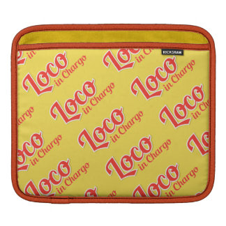 Loco in Chargo Bold Plain Background iPad Sleeve