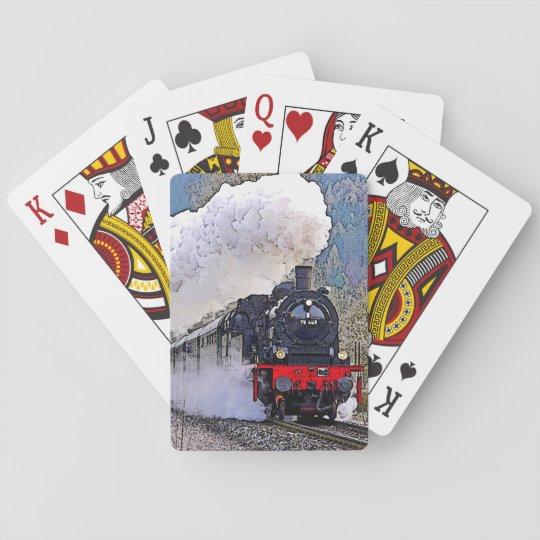 Locomotive 2. Steam in the Snow. Poker Deck
