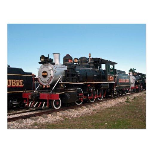 Locomotive à vapeur, Cuba Carte Postale