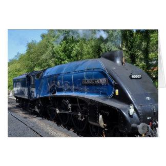Locomotive à vapeur No. 60007 Carte De Vœux