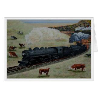 Locomotive by Jim Ivey--Blank Notecard