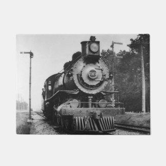 Locomotive Engine 7373 Vintage Railroad Train Doormat