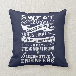 Locomotive Engineer Woman Throw Pillow