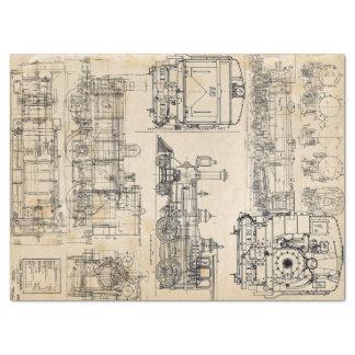 Locomotive Love Tissue Paper