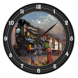 Locomotive Old West Large Clock
