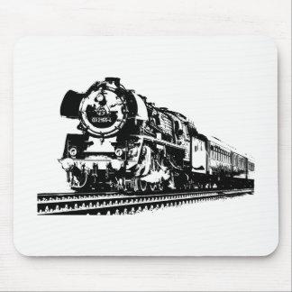 Locomotive Silhouette Mouse Pad