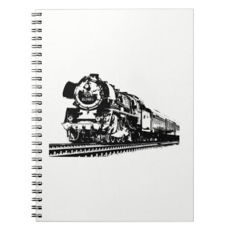 Locomotive Silhouette Notebook