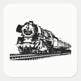 Locomotive Silhouette Square Sticker