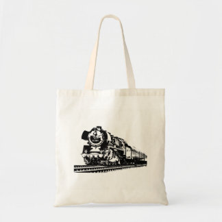 Locomotive Silhouette Tote Bag