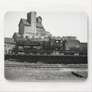Locomotive Steam Engine on Turntable Vintage Mouse Pad