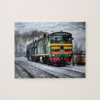 Locomotive Steam Engine Train Puzzle
