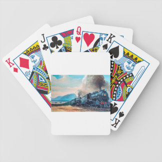 Locomotive Train Bicycle Playing Cards