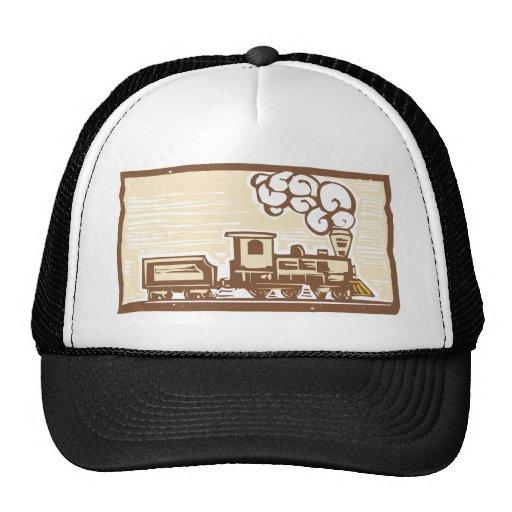 Locomotive Woodcut Mesh Hat