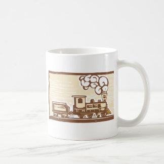 Locomotive Woodcut Mugs
