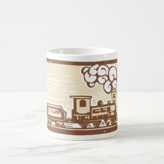 Locomotive Woodcut Coffee Mug