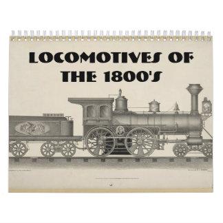 Locomotives of the 1800s calendar