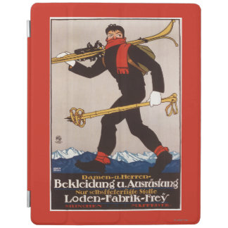 Loden Ski Clothes Skiing Advertisement Poster iPad Cover