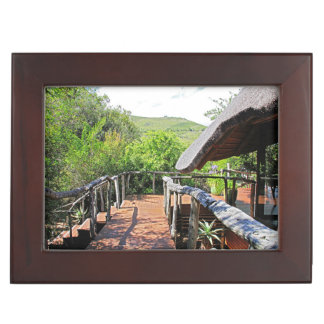 Lodge in the African Savannah Memory Box