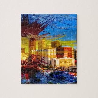 LoDo Denver with Colorado Flag Jigsaw Puzzle