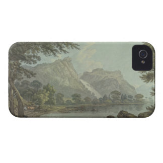 Lodore Rocks - fall cottage distance pen ink iPhone 4 Covers