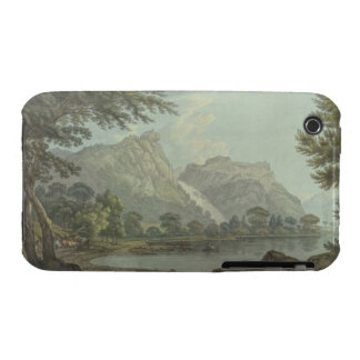 Lodore Rocks - fall & cottage distance (pen & ink Case-Mate iPhone 3 Cases