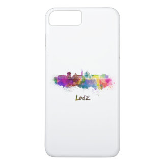 Lodz skyline in watercolor iPhone 7 plus case