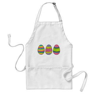 L'oeuf de pâques heureux peint coloré Eggs le Tablier