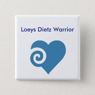 Loeys Dietz Warrior 2 Inch Square Button