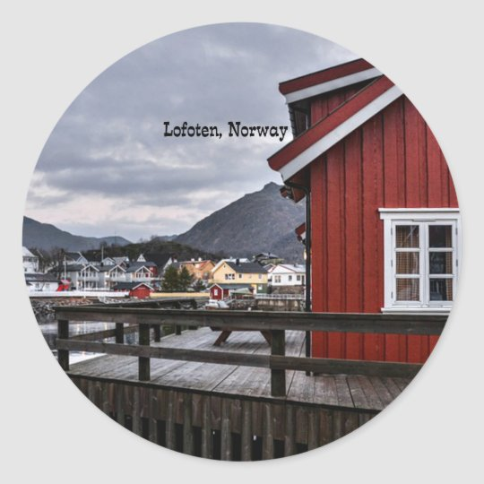 Lofoten, Norway Classic Round Sticker