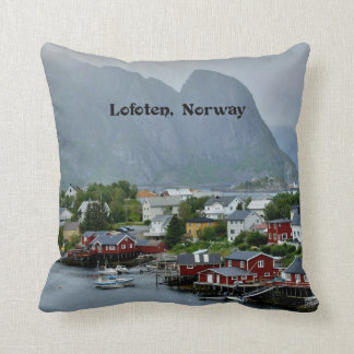 Lofoten, Norway scenic landscape photograph Throw Pillow