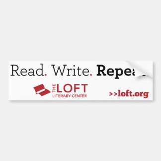 Loft Bumper Sticker: Read. Write. Repeat Bumper Sticker