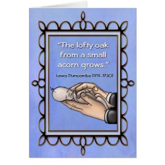 Lofty Oak New Baby card
