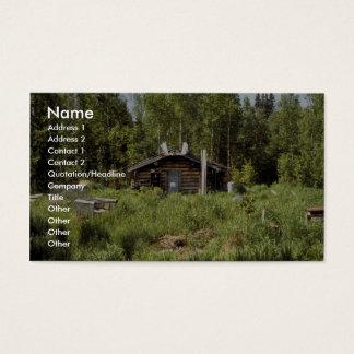 Log Cabin along the Nowitna River Business Card