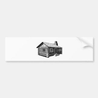 Log Cabin Bumper Sticker