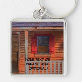 Log Cabin Home Keychain
