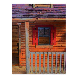 Log Cabin Home Postcard