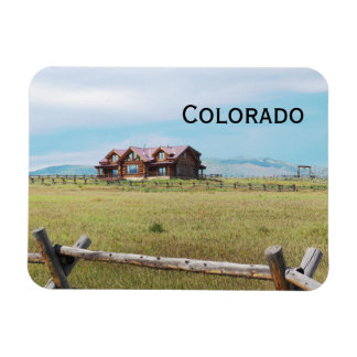 log cabin in Colorado Magnet