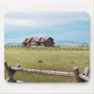 log cabin in Colorado Mouse Pad