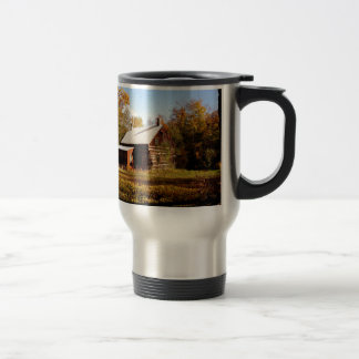 Log Cabin in the Woods Travel Mug