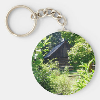 log cabin keychain