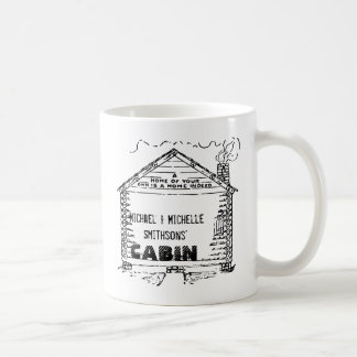 Log Cabin Personalized Home Coffee Mug