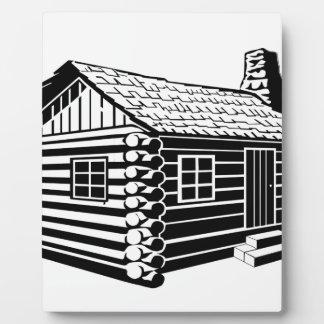 Log Cabin Plaque