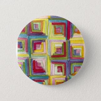 log cabin quilt 2 inch round button