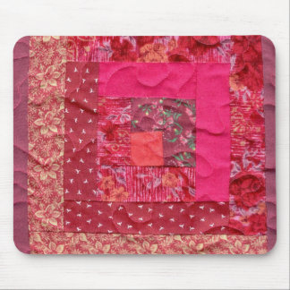 log cabin quilt block mouse pad