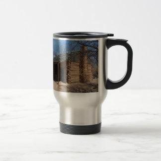 Log Cabin Travel Mug