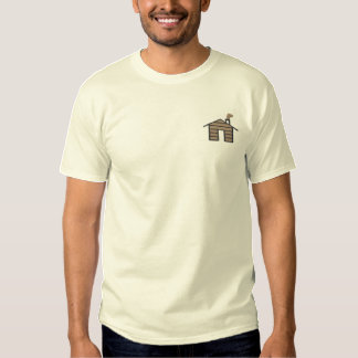 Log House Embroidered T-Shirt
